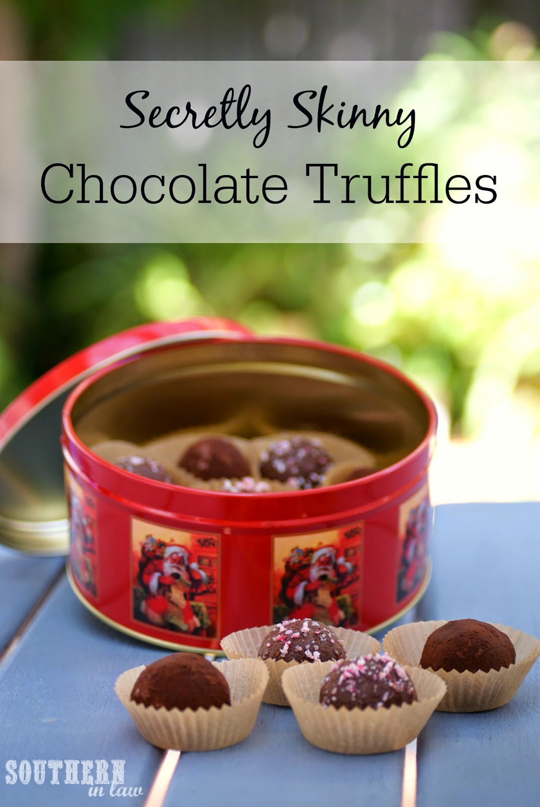 Healthier Cream Cheese Chocolate Truffles Recipe - low fat, low sugar, gluten free, healthy, healthier, freezer friendly, homemade Christmas gift ideas
