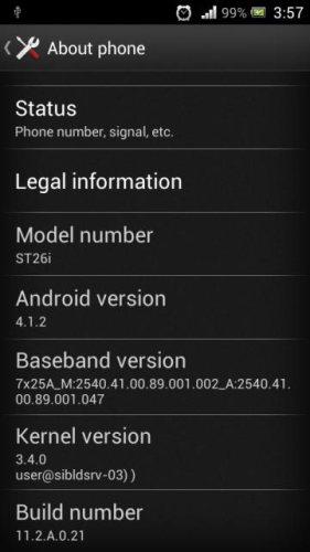 Iniziato l'upgrade del firmware per lo smartphone Sony Xperia J che sarà aggiornato alla versione 4.1.2 jelly Bean