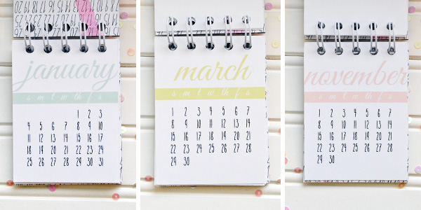 Aly dosdall bitty desk calendar free printable this took me minutes and its such a cute little calendar perfect for a gift or to keep for yourself solutioingenieria Gallery