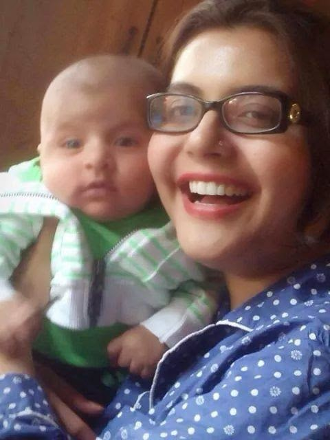 Nida Yasir With his New Born Son