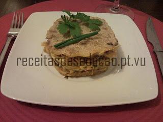 lasanha de frango e especiarias