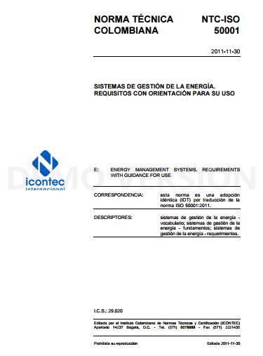 Compre la ISO 50001 Gestión de la energía