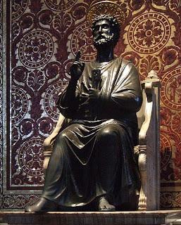 Escultura Estátua em bronze de São Pedro
