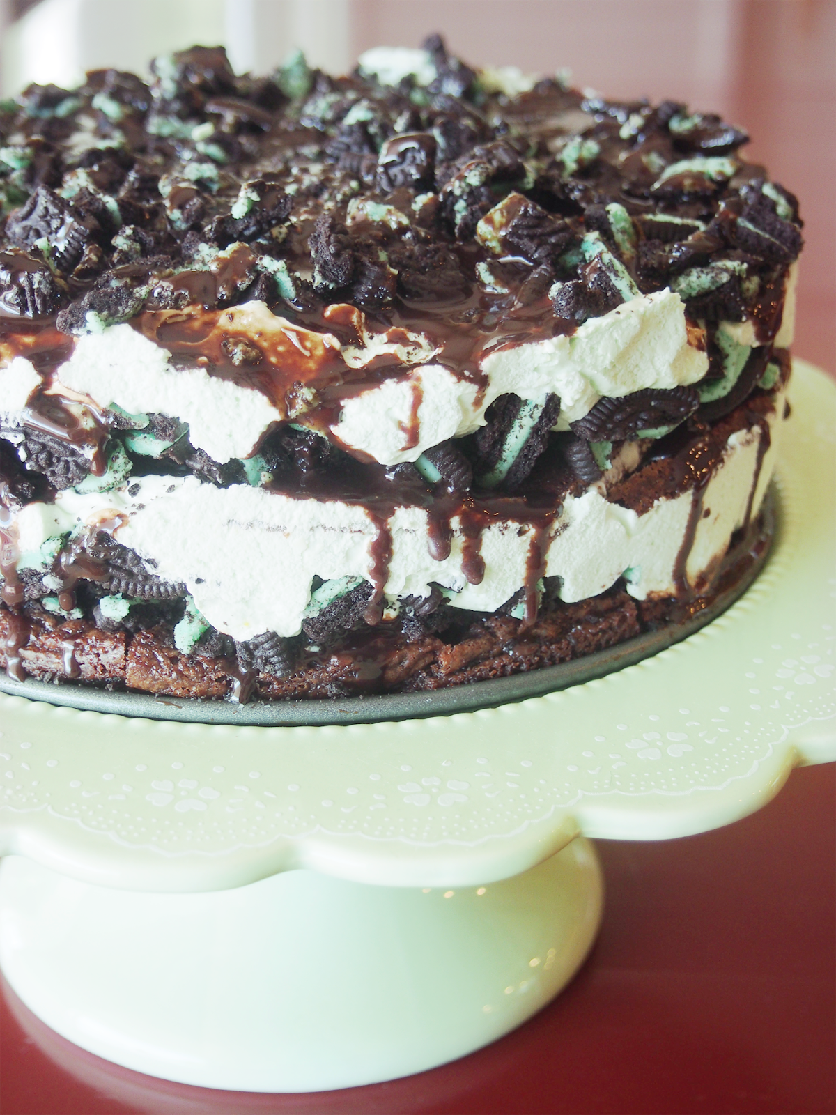 Cake Ice Cream On Top : Parties and Patterns: Oreo Ice Cream Cake