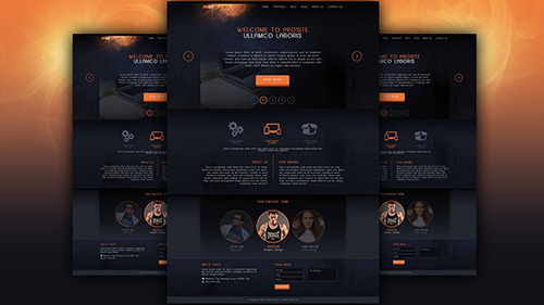 Make A Dark Style Website Design Photoshop Tutorial
