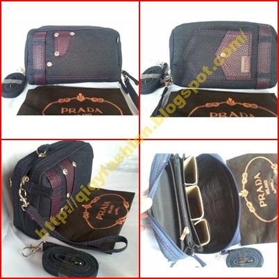 QIQY FASHION  Dompet Wanita (Dompet Prada Model Jeans) 6899ac0775