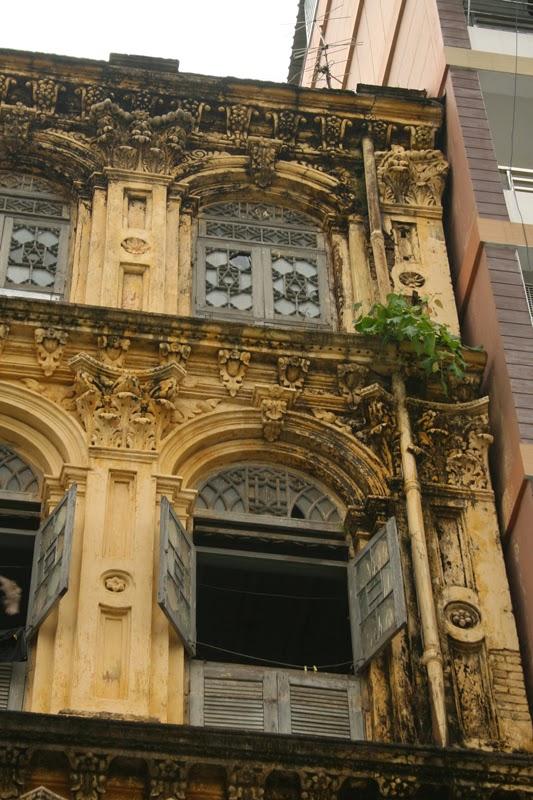dirty building in yangon