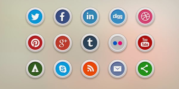 15 Free Social Media Icons PSD & PNG