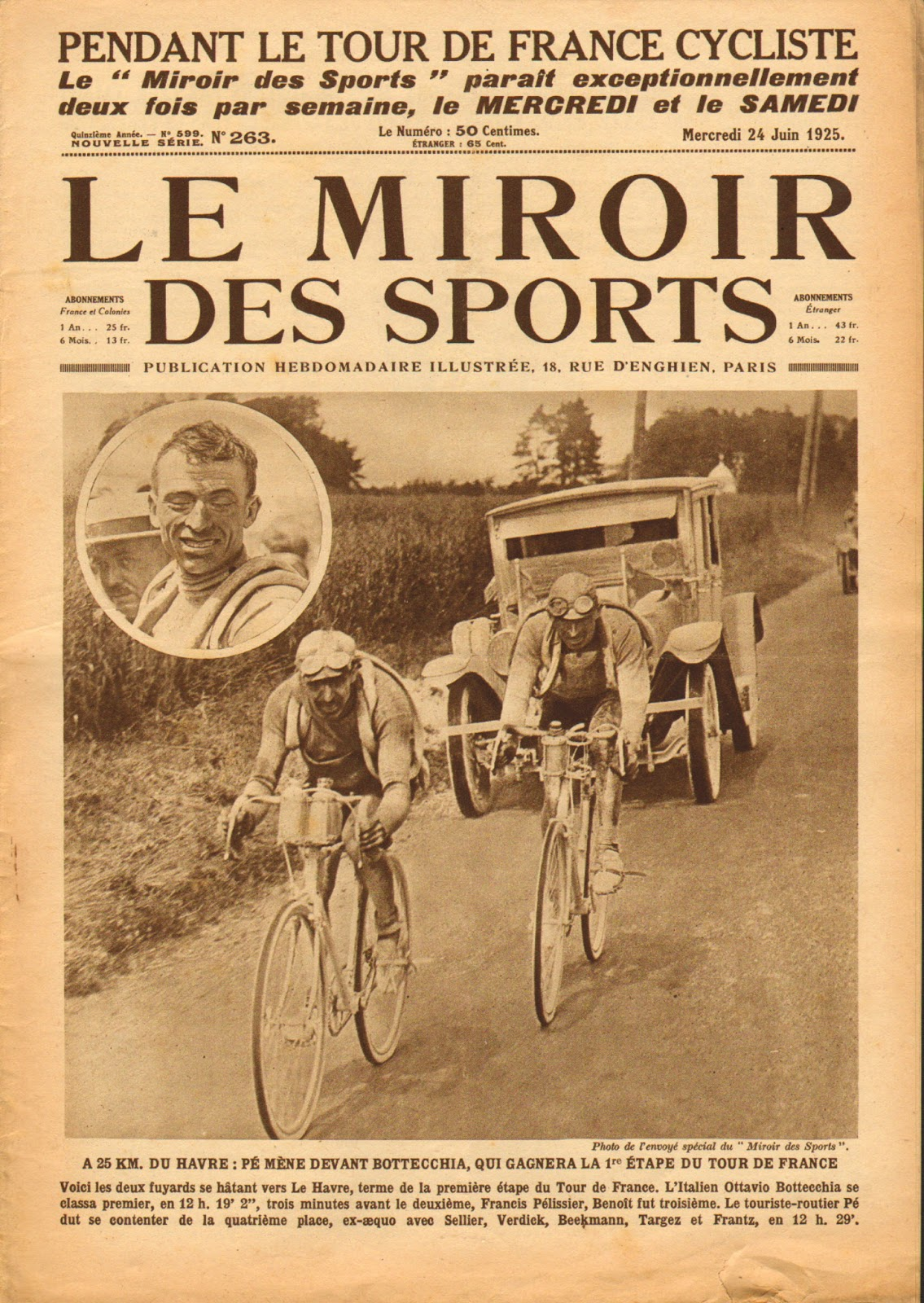 Cycling passions for Le miroir des sports