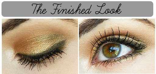golden eyeshadow tutorial