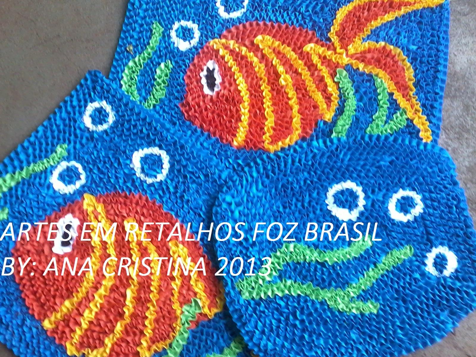 Arte Em Tapete De Retalho : ARTES EM RETALHOS FOZ BRASIL: Tapetes de frufru Artes em Retalhos Foz