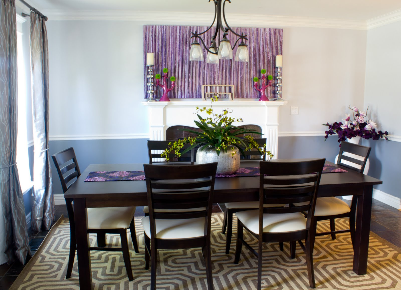 The Design House Interior Design: A Pleasantly Purple Dining Room