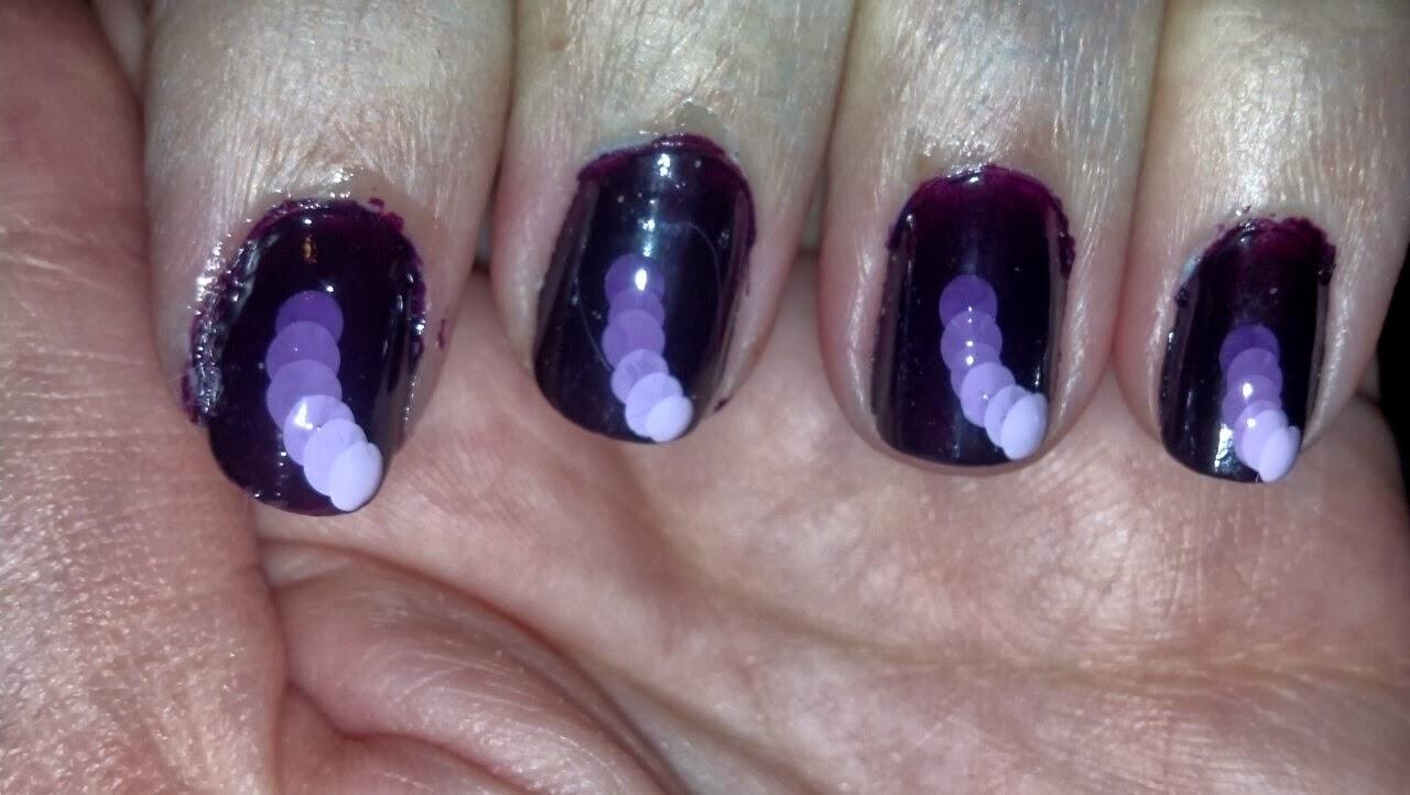 The Nail Diaries: Purple Fall Nail Art