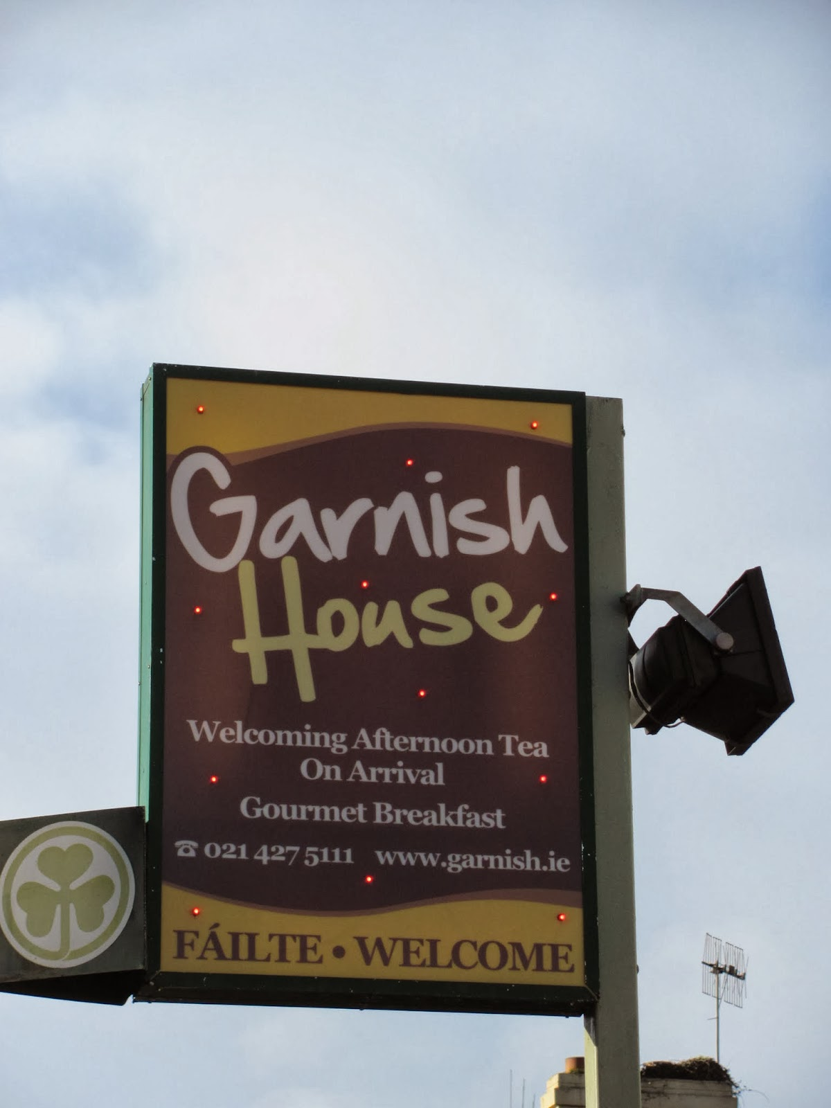 Sign for Garnish House, Cork, Ireland