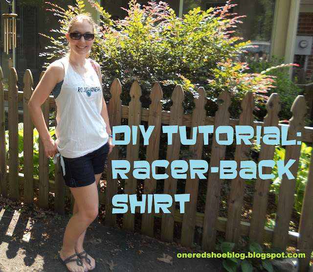 Racer Back Tee Shirt Tutorial cover