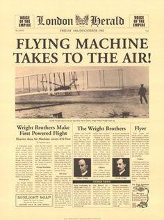 Primer vuelo de los Hermanos Wright