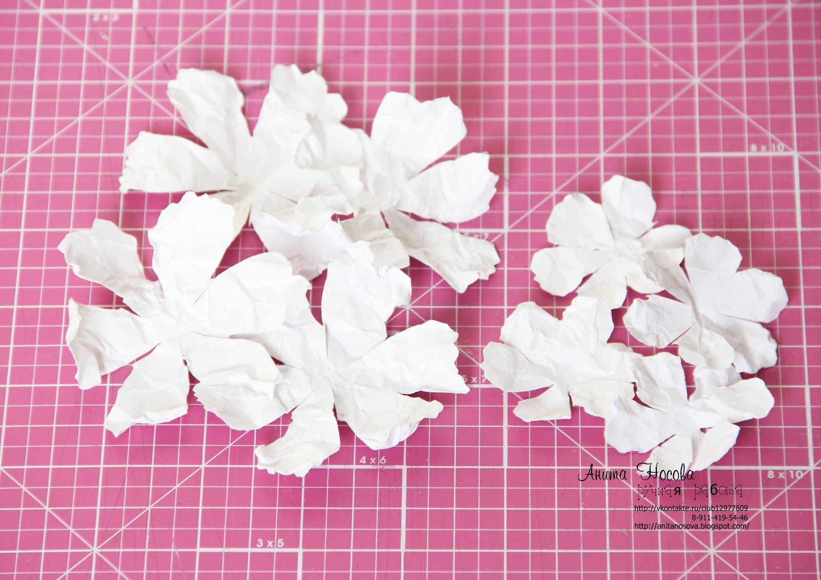 Объемные цветы из бумаги своими руками с пошаговым фото