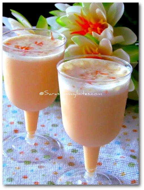 Carrot almond milkshake