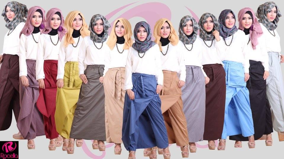 Jual Rok Celana Rocella | Rok Celana Akhwat | Rok Celana muslimah
