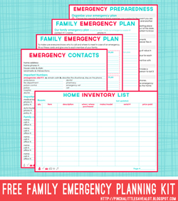 Emergency Planning Kit