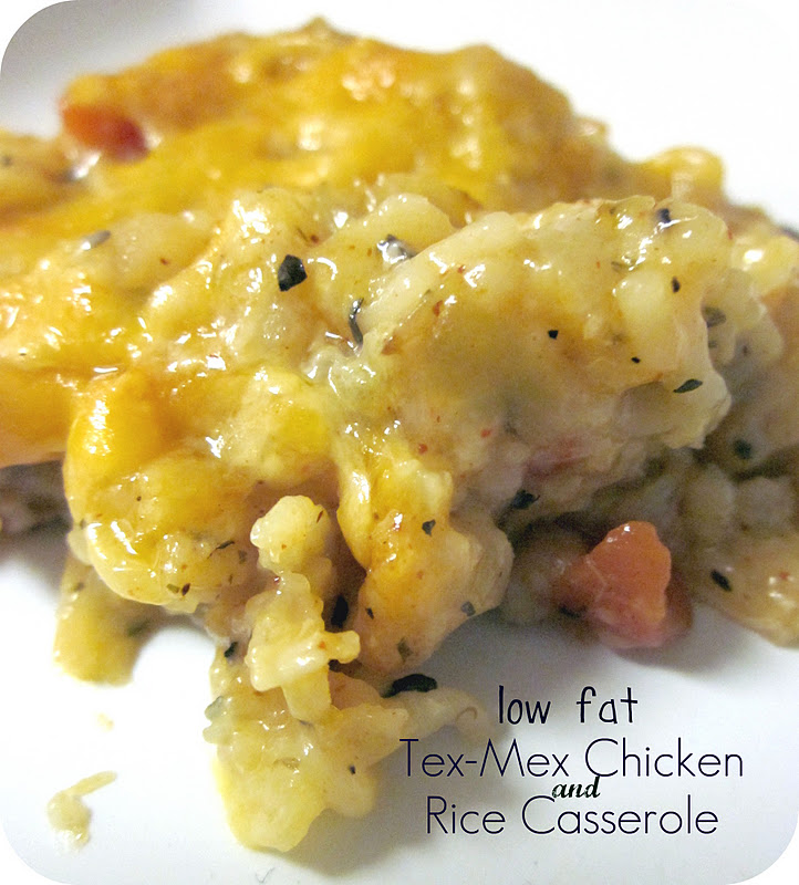 Low Fat Tex-Mex Chicken and Rice Casserole Recipe / Six ...