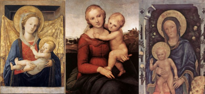 Three Madonna and Childs
