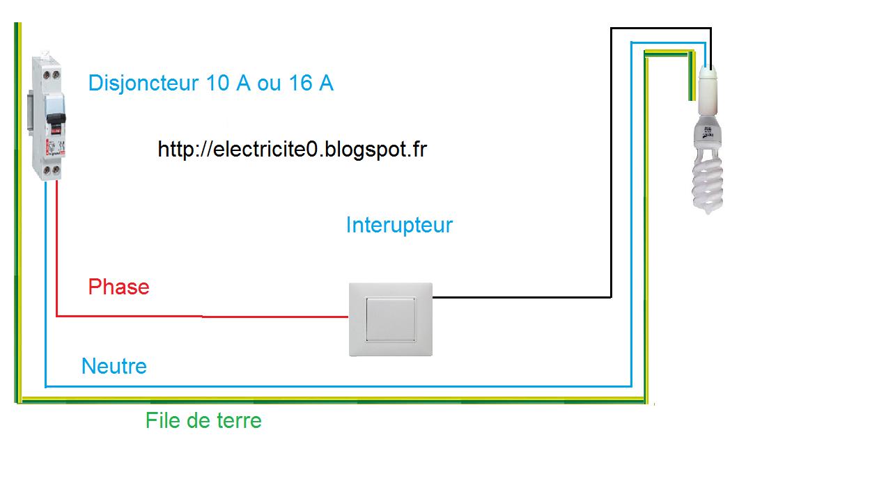 Electricit schema electrique simple allumage - Schema simple allumage ...