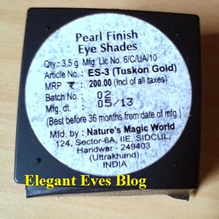 Coloressence Pearl Finish Eye Shade #Tuskon Gold