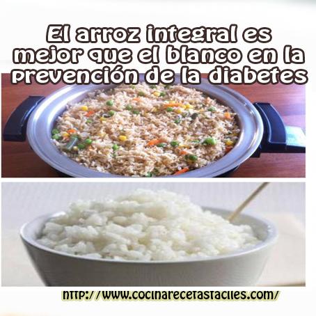 arroz integral ,