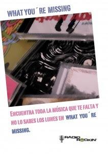 What You're Missing, radiorockin, rockinandblogin, nosabesloquetepierdes.blogspot.com, radio