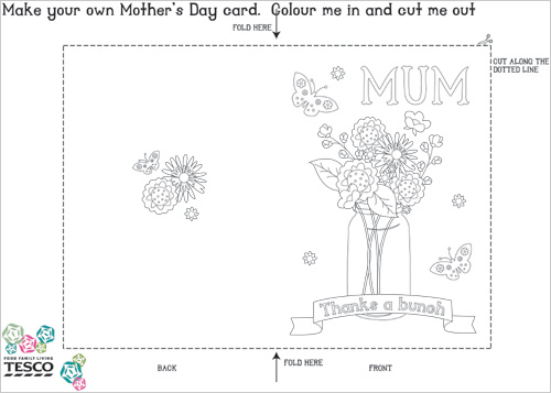 My Owl Barn Printable MotherS Day Coloring Card Templates