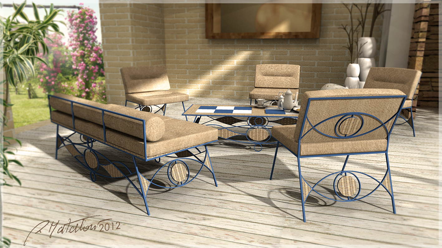 3d model outdoor furniture. Black Bedroom Furniture Sets. Home Design Ideas