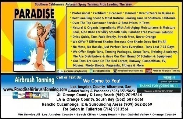 Paradise Airbrush Tanning Mobile Spray Tan Service