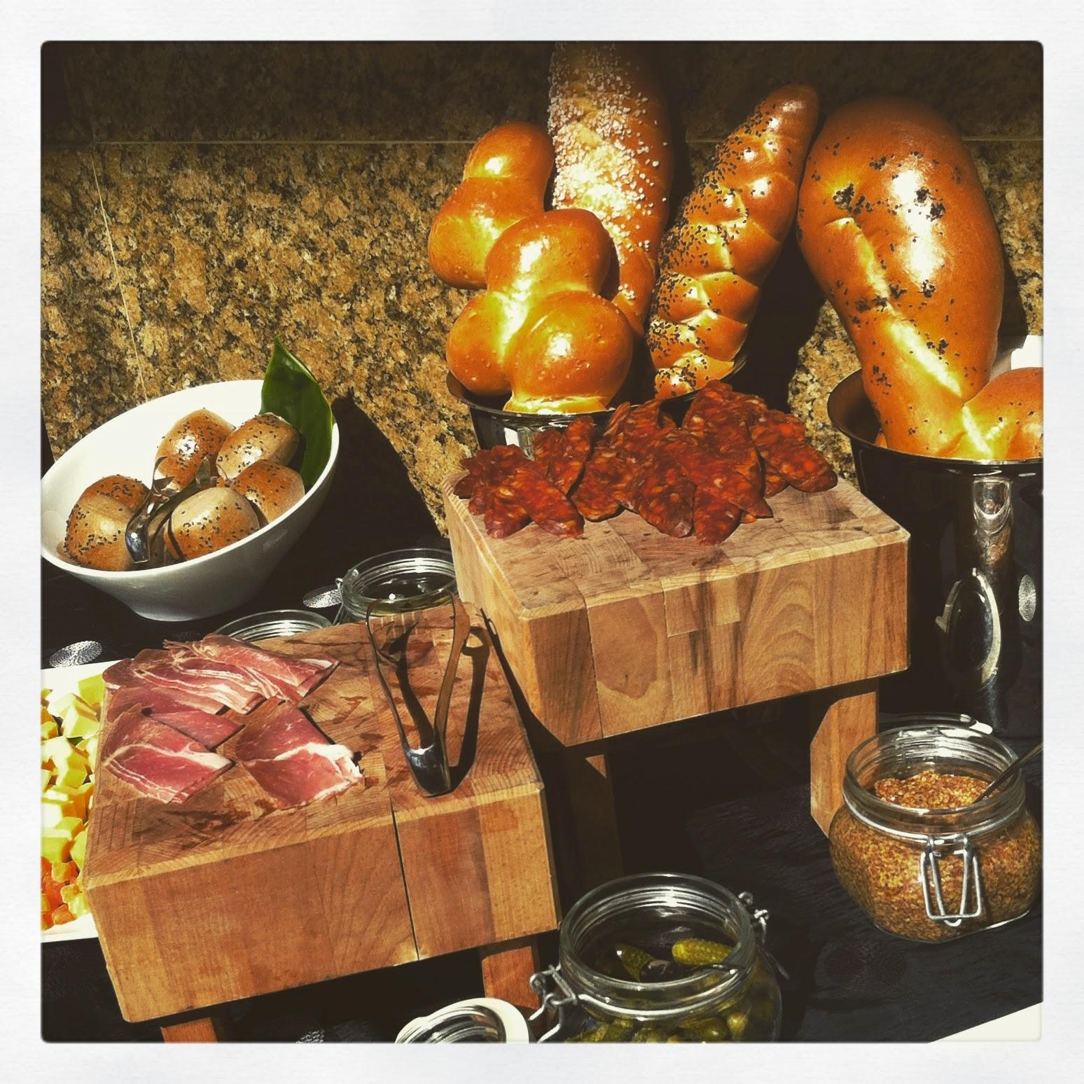 Using butcher block displays to show food