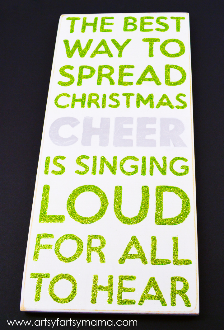 Christmas Cheer Sign at artsyfartsymama.com #christmas #MSHoliday