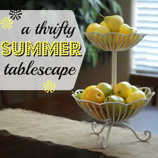 lemons, three tier tray
