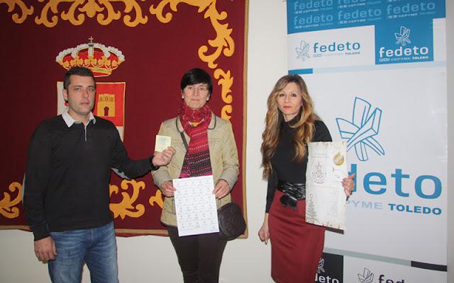 Acto de entrega de premio en el ayuntamiento de Illescas (Toledo)