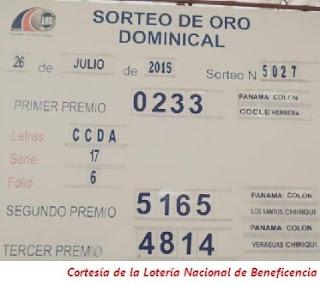 Resultados-Sorteo-Domingo-26-de-Julio-de-2015-Loteria-Nacional