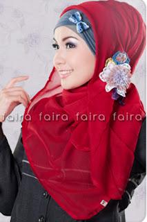 Model Jilbab Paris segi Empat