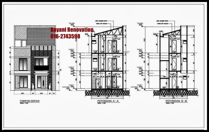 plan rumah minimalis 3 lantai rumah 3 lantai bayani