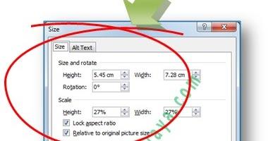Karya Mandau Tips Mengatur Ukuran Gambar Foto Agar Tepat Presisi Di Microsoft Word