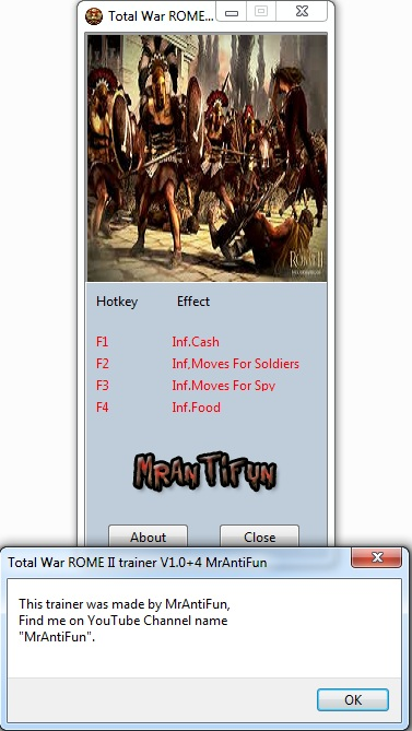 Total War ROME II trainer V1.0+4  One turn technology and buildings MrAntiFun