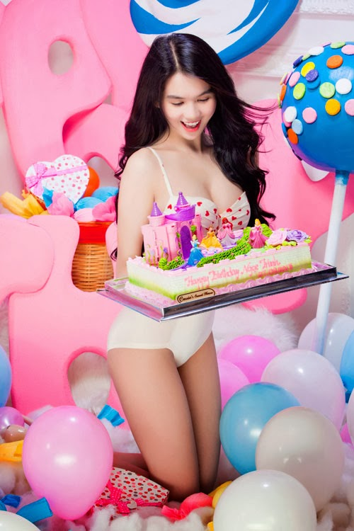 Ngoc Trinh in her sexy birthday