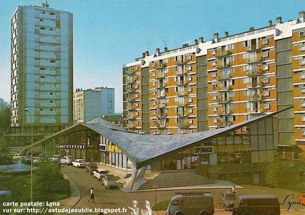Malakoff - Centre commercial Henri Barbusse  Ingenieurs: René Sarger, Jean-Pierre Batellier  Architecte: Charles Sebillotte  Construction: 1958