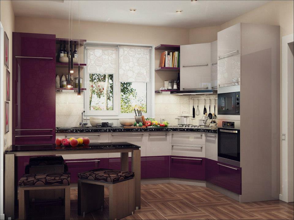 дизайн кухни в частном доме фото угловая