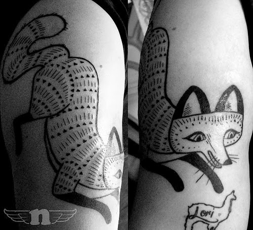 Rosie's Walk Fox Tattoo