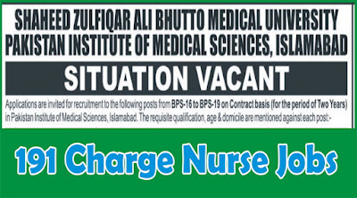 Doctors & Nurses Jobs in SZAMU, PIMS Islamabad