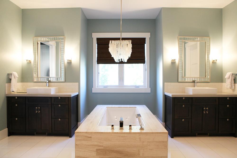The modern sophisticate berkshire estate master bedroom for Limestone tub