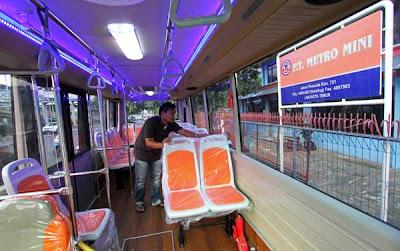Wajah Metromini baru keren banget