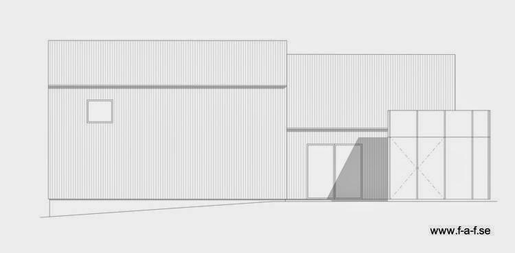 Plano de alzada fachada este de la casa
